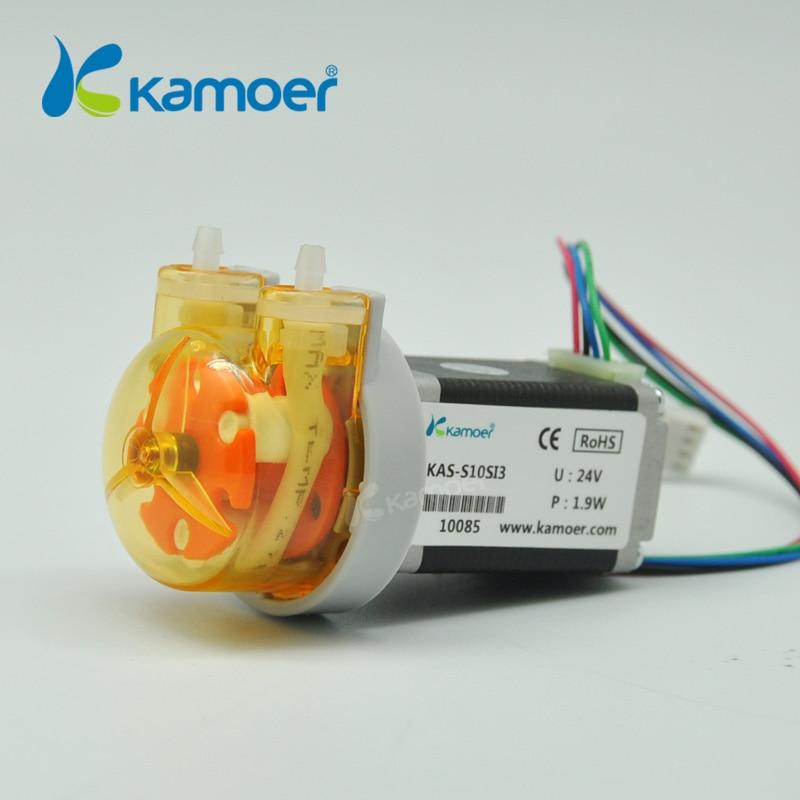 Kamoer KAS Peristaltic Pump 24V Stepper Motor Water Pump (Free Shipping, PCB Control Support, Precise Control, Digital Control) kamoer digital peristaltic pump dispenser