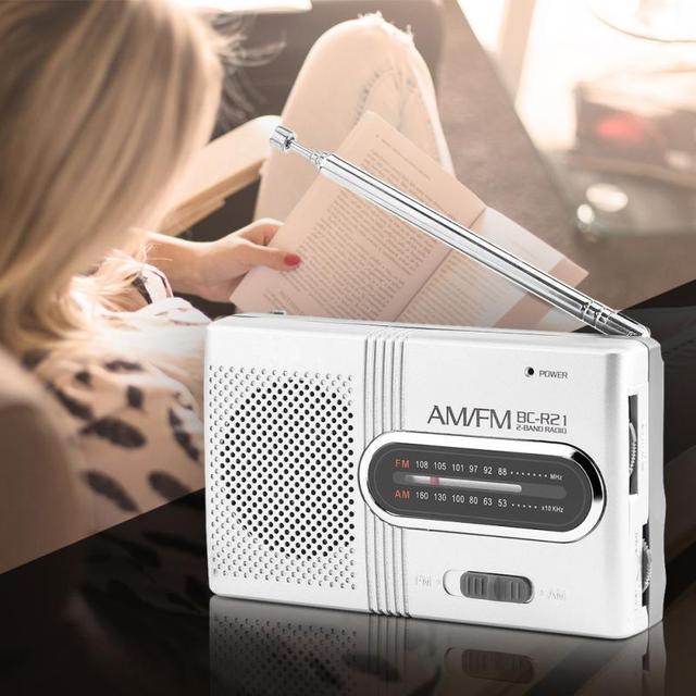 אוניברסלי עבור INDIN BC-R21 נייד מיני AM FM רדיו סטריאו רמקולים מוסיקה נגן Dual Band מקלט ערוץ 88-108 MHz אנטנה
