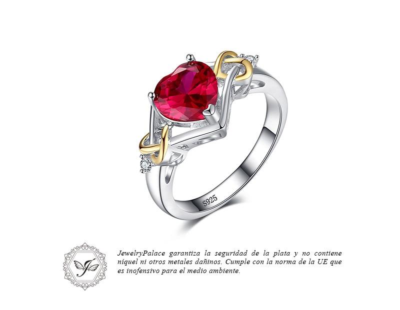 b98173977a1a Enamórate de tu nuevo anillo favorito cuando no hagas este anillo de rubí.  Una gran y hermosa forma de corazón piedra preciosa es el enfoque--Con  precioso ...