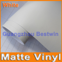 30M a lot free shipping high quality white matte vinyl car wrap film car sticker film with air release bubble free