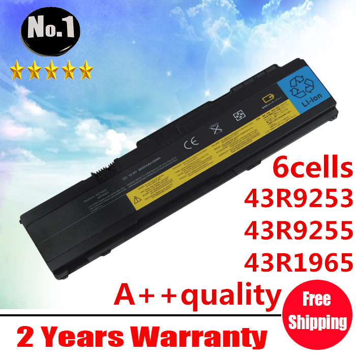 ФОТО Wholesale New 6cells laptop battery FORThinkPad X300 X301 Series 43R9253 43R9255 43R1965 43R1967 ASM 42T4519  free shipping