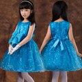 Nueva marca vestido de la muchacha de los Bebés Ropa Para Niños ropa de Niños Ropa de Princesa Dress for party Vestido Infantil