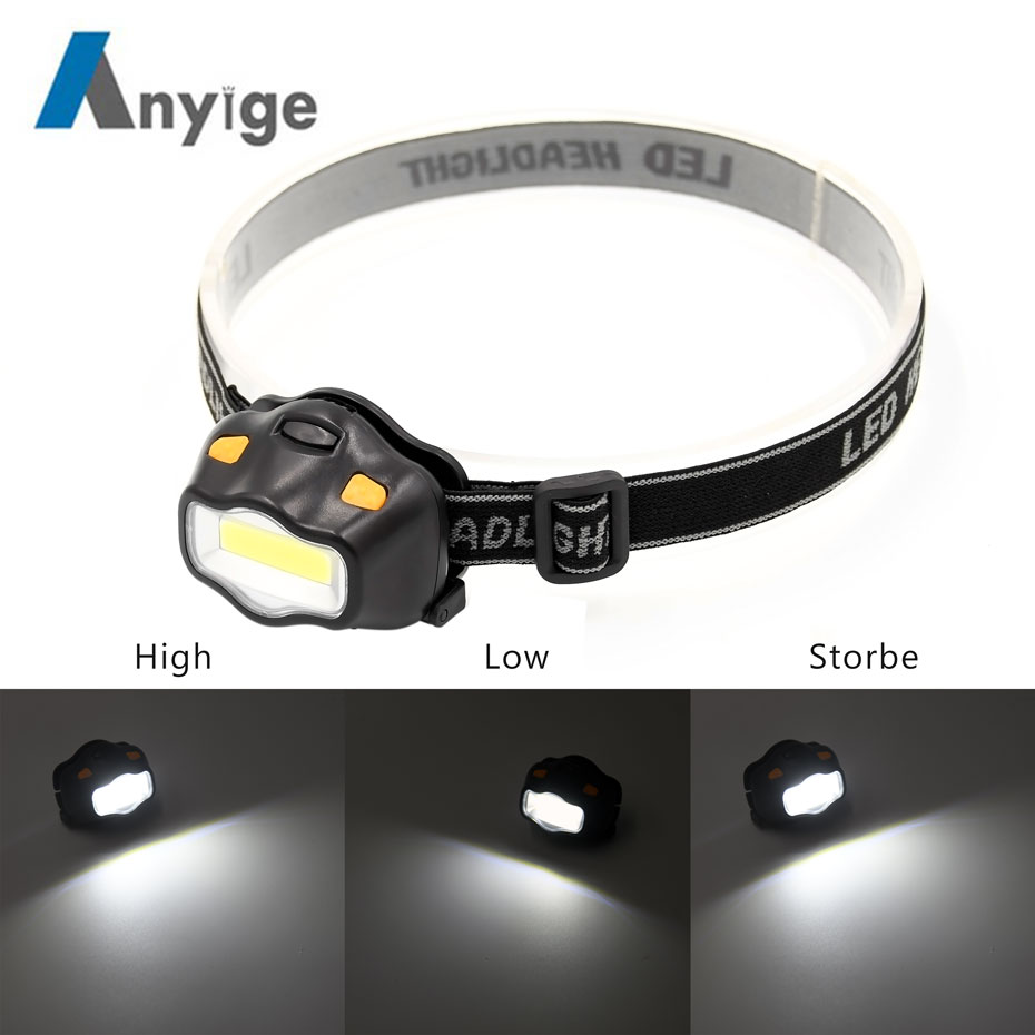 ANYIGE Mini Outdoor Lighting Head Lamp 12 COB LED Headlight For Camping Hiking Fishing Reading Activities Flash Lights Headlamp