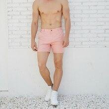 Sıcak erkek rahat yaz şort pembe yeşil moda İngiltere şort yeni varış
