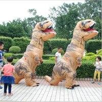 BOOCRE Halloween Cosplay Dinosaur Costume Tyrannosaurus Inflatable Animation Show Adult Children