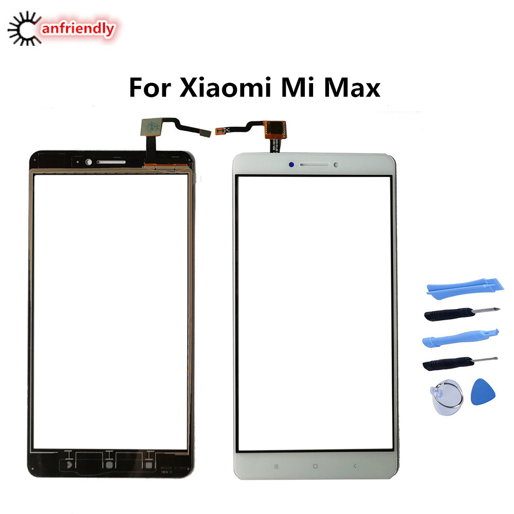 "For Xiaomi Mi Max 6.44"" Touch Screen Panel Replacement Digitizer Sensor Front Glass For Xiaomi Mi Max mobile phone repair screen"