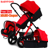 Lowest price 3 in 1 baby stroller gold frame high qulaity baby carriage four wheels newborn
