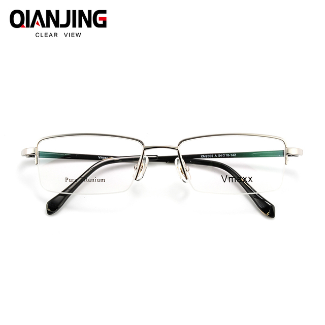 a23d58ffe3 Free Shipping 100% Pure Titanium Half Rim Brand Eyeglasses Men Optical  Spectacle Frame Eye Prescription Glasses Oculos De Grau