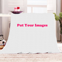 DIY Customized Design Blanket Photo Printed Coral Fleece Flannel Mink Throw Sofa Cover Plane Couch Chair Home Decor Blankets