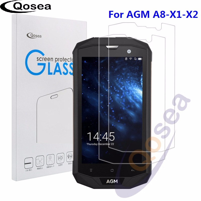 Qosea (2 PACK) For AGM A8 Tempered Glass Ultra Clear 9H Protective Film Explosion-proof For AGM A8 X1 X2 Phone Screen ProtectorQosea (2 PACK) For AGM A8 Tempered Glass Ultra Clear 9H Protective Film Explosion-proof For AGM A8 X1 X2 Phone Screen Protector
