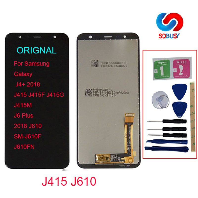 Original LCD For Samsung <font><b>Galaxy</b></font> <font><b>J4</b></font>+ <font><b>2018</b></font> <font><b>J4</b></font> Plus J415 J415F J6 Plus <font><b>2018</b></font> J610 LCD <font><b>Display</b></font> Touch Screen Digitizer Assembly Panel image