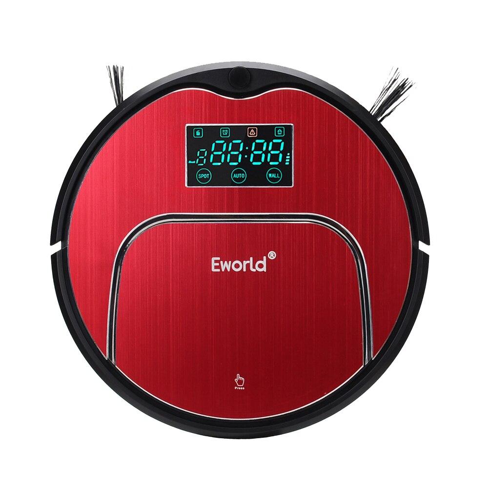 (Navio de RU) Eworld M883 Horário Auto Carga Inteligente Robô Aspirador de pó Com Mop Com LCD Grande Caixa de Armazenamento para Casa para Uso Doméstico