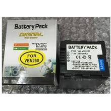 VW-VBN260 VBN390 lithium batteries pack VBN260 Digital camera battery For Panasonic HC-X800 HC-X900 HC-X910 HC-X920 HC-X920M