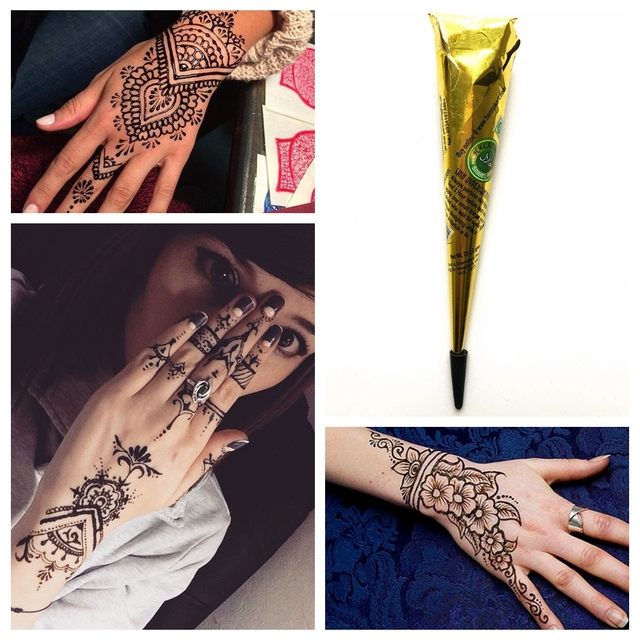 1pc Natural Plant Pigment Brown Color Indian Tattoo Henna Paste For