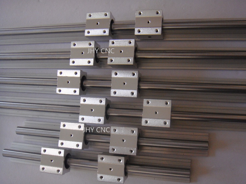 6 SBR20-400/800/1100mm 20 MM FULLY SUPPORTED LINEAR RAIL SHAFT ROD with 12 SBR20UU6 SBR20-400/800/1100mm 20 MM FULLY SUPPORTED LINEAR RAIL SHAFT ROD with 12 SBR20UU