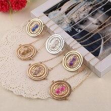 Wholesale 24pcs/lot Movie Jewelry Time Turner Necklace Fashion Pendant Necklace For Women&Men