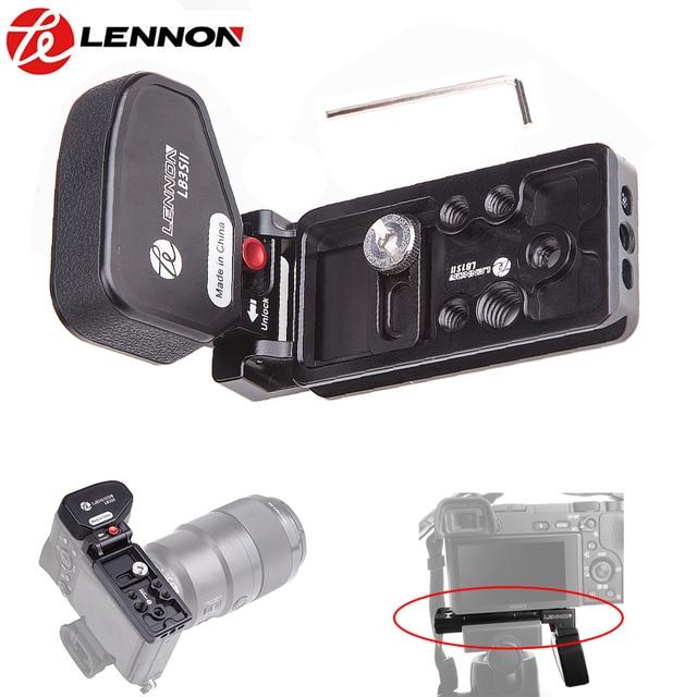"""לנון גריפ Bracket פלייט L שחרור מהיר עבור Sony מצלמה ראי A7II A7RII A7RIII A7SII A9 עם 1/4 """"& 3/8"""" חור חוט"""