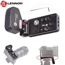"""لينون سريعة الإصدار l بلايت القوس قبضة لسوني كاميرا المرايا A7II A7RII A7RIII A7SII a9 مع 1/4 """"و 3/8"""" الموضوع هول"""
