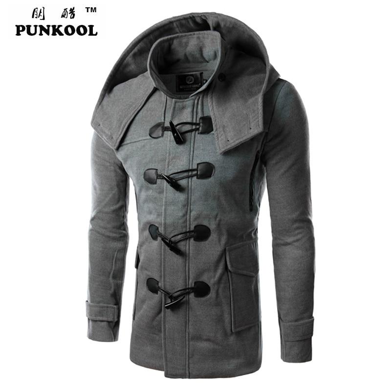 Aliexpress.com : Buy PUNKOOL Hot Duffle Coat Men Winter Fashion ...