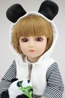 45cm joint body fashion BJD doll princess bonecas FULL vinyl 18inch 1/4 bjd doll modeling Dolls toys for girl panda cosplay