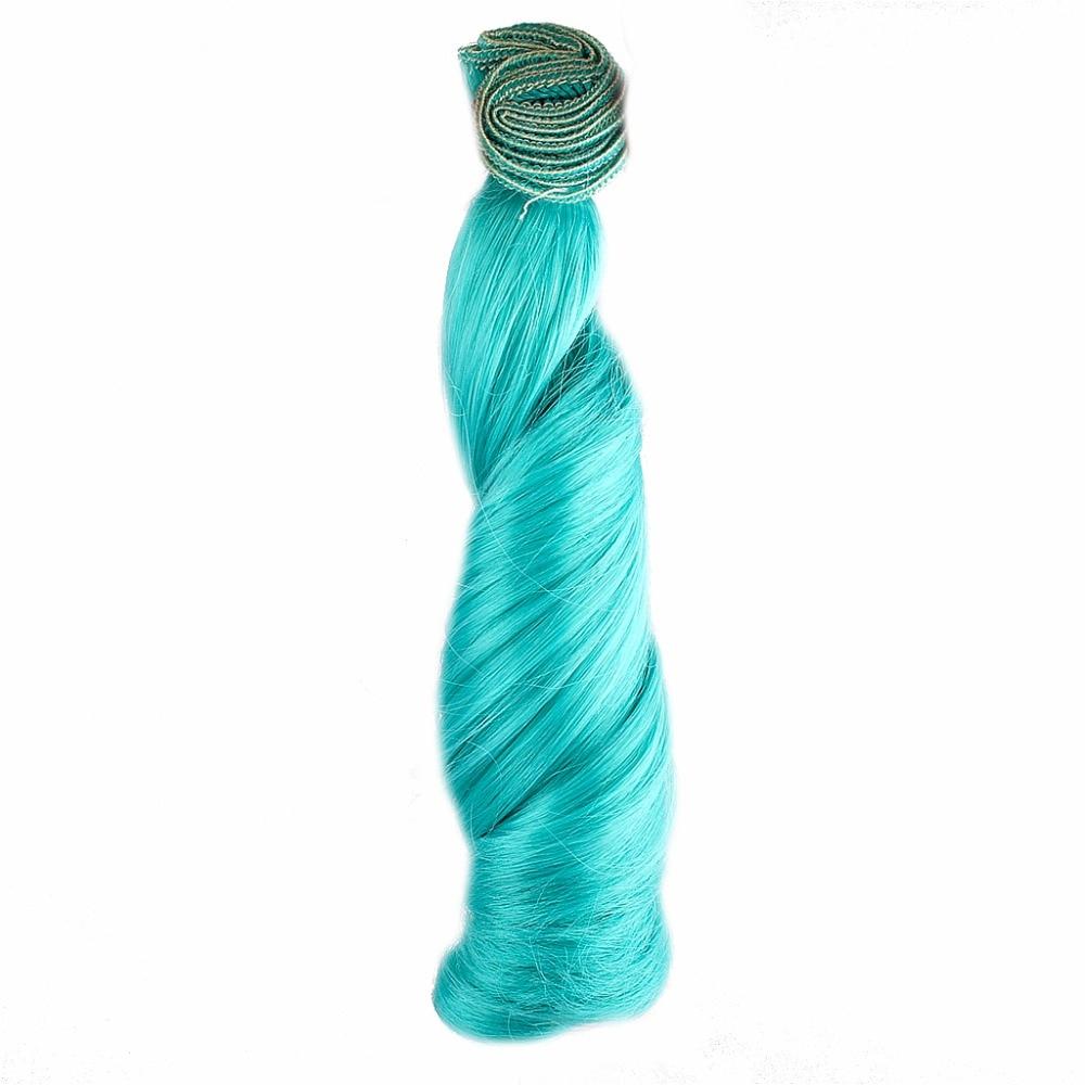 Original [wamami]green 1pc Wig Bjd Diy High-temperature Wire Handmade Curly Wigs Hair