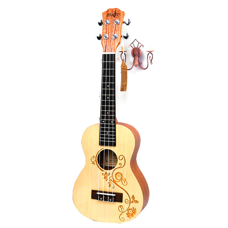 23 Ukulele Concert Acoustic Small guitar Stringed Instruments Rosewood Fretboard Spruce wood Electric Ukelele with Pickup EQ 23ukulele concert mini hawai guitar mahogany body fishing bone pattern electric ukelele with pickup eq uku gitara