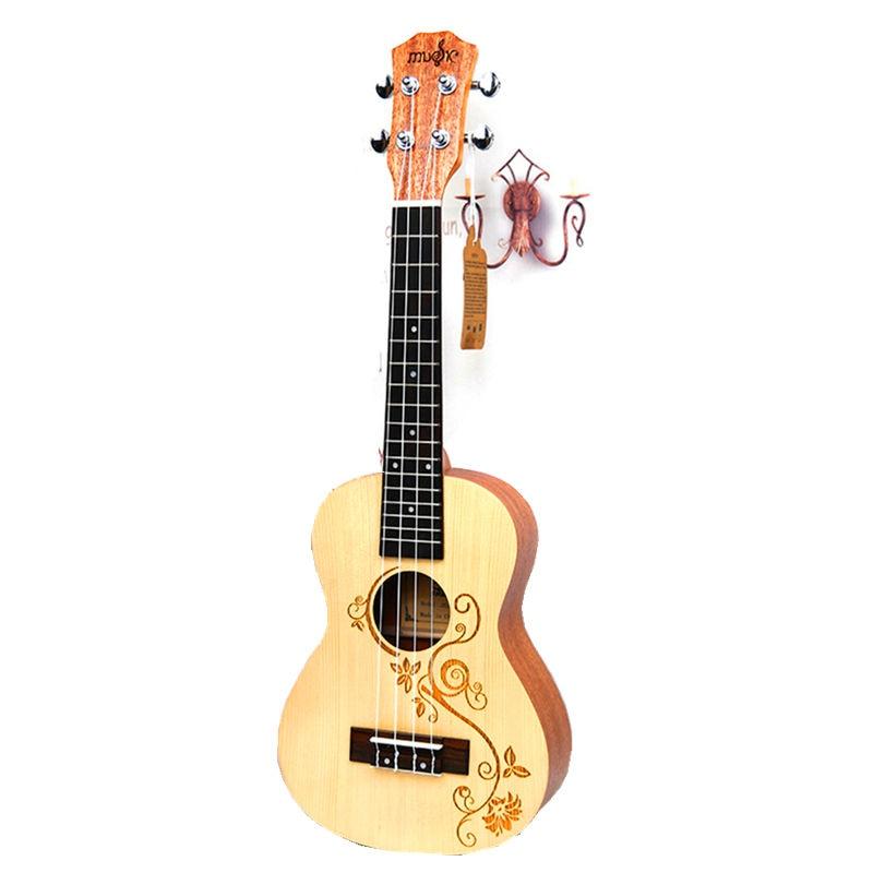 23 Ukulele Concert Acoustic Small guitar Stringed Instruments Rosewood Fretboard Spruce wood Electric Ukelele with Pickup EQ