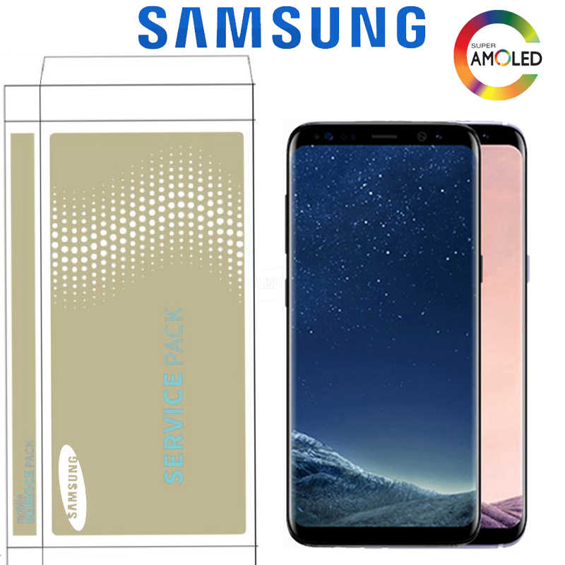 HTB1 4IqUMHqK1RjSZFgq6y7JXXaQ Original Super AMOLED Display For Samsung S8 G950F G950U S8 Plus G955 G955F LCD Touch Screen Digitizer Assembly With Frame
