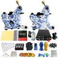 Solong Tattoo Principiante 2 Rotary Tattoo Machine Guns Kits Power Supply Foot Pedal 20 Apretón de Las Agujas Consejo Ink Cup TK201-32