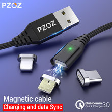 PZOZ Magnetic Cable Micro usb Type C Fast Charging Adapter Phone Microusb Type-C Magnet Charger usb c For iphone Samsung xiaomi(China)