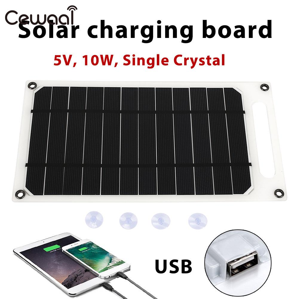 Solar Panel USB Port Durable Tablet Solar Generator 5V 10W Travel Solar Charger Panel Monocrystalline Silicon diy 5v 2a voltage regulator junction box solar panel charger special kit