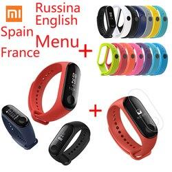 Руссина английское меню Xiaomi mi Band 3 mi Fit 3 фитнес-браслет трекер NFC 5ATM сенсорный экран для сердечного ритма монитор смарт-браслет
