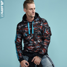 Aimpact 2017 Autumn Camo Hoodies Sweatshirt Men Fashion Casual Hoody Men Zipper Pocket Hooded Brand Clothing Male Jackets AM4005(China)