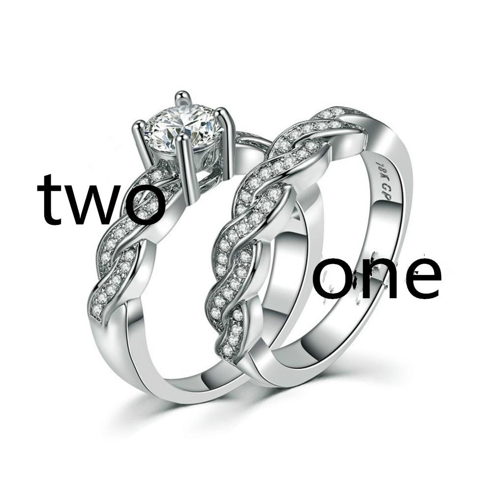 BVSHOU01 New set of rings wedding ring set men and women couple ring jewelry set