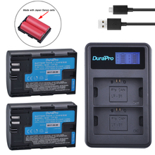 2pc LP-E6 LP-E6N LP E6 Li-ion Rechargable Battery Made With Japan Cells + LCD USB Charger For Canon EOS 5D Mark II III 7D 60D 6D