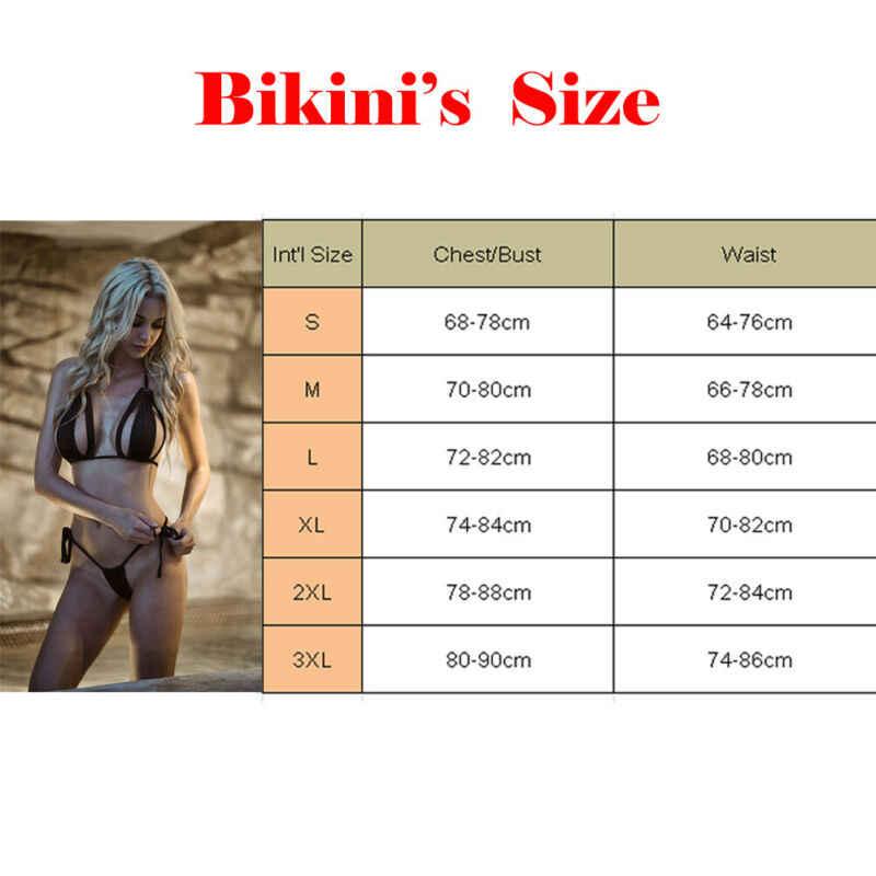 Femmes push-up doux soutien-gorge Bandage Bikini ensemble maillot de bain Triangle maillots de bain bain nouveau