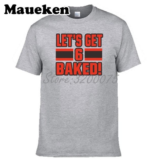 ... men baker mayfield 6 let s get baked cleveland t shirt clothes t  Youth Cleveland  Browns Baker Mayfield NFL Pro Line by Fanatics Branded ... f7fb8252e