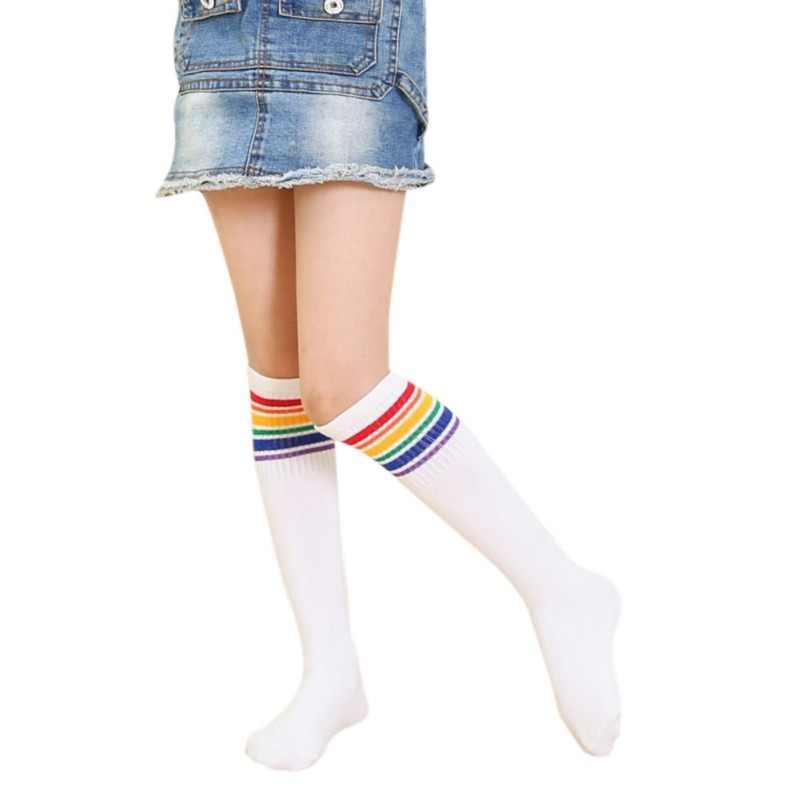 Çocuklar Için Çorap Kız Erkek Çizgili Bebek Çorap Pamuk Çocuk futbolcu çorapları Rahat Bebek Çorap