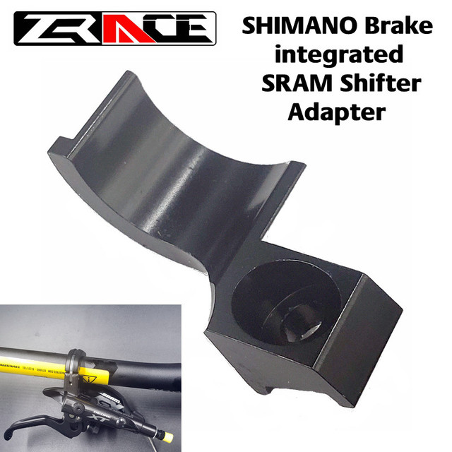 ZRACE CNC adaptateur pour frein SHIMANO intégré SRAM manette de vitesse adaptateur 2 en 1, Compatible pour SHIMANO M9020/M9000 SRAM XX1 X7