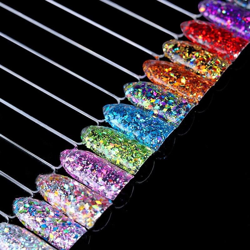 Nails Art & Werkzeuge 1 Box Raute Nagel Flakies Gemischte Größe Bunte Paillette Pailletten Flocken Glitter Für Maniküre Nail Art Dekorationen Exquisite Handwerkskunst; Nagelglitzer