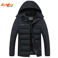 Men Winter Down Jacket Thick Warm Fleece Coats 2018 New Fashion Patchwork Men's Coat Hooded Men Down Parkas Outwear Coat XL 4XL