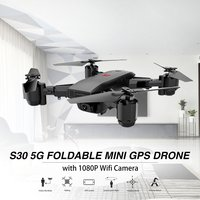 S30 2.4G/5G Foldable RC Drone with 720/1080P Camera Mini Quadrocopter 4CH 6 Axis Wifi FPV Drone Built in GPS Smart Follow Me toy