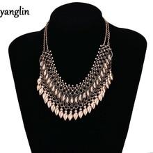 New Elegant Unique Statement Necklace women Gypsy Ethnic bohemian Maxi Collar Vintage Choker necklace Jewelry
