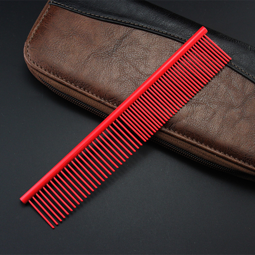 Купить с кэшбэком pet tangle steel comb hairbrush dog grooming hair scissors barber comb cat DeShedding Trimming Tool detangle brush Pengpet combs