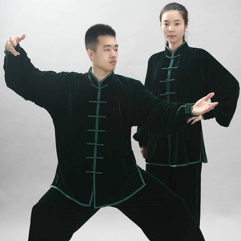 Winter Autumn Women Morning Exercise Tai Chi Uniform Men Velvet Wuchu Martial Art Sets Clothing Male Kung Fu Uniform 90