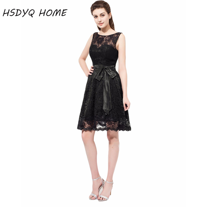 HSDYQ HOME Black   Bridesmaid     Dresses   Summer Lace Party Gowns Formal Wedding Prom   Dresses