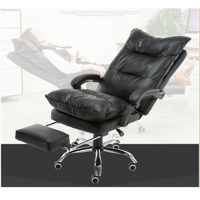 New Design Computer Office Chair Home Boss Executive Chair Lunch Break  Reclining Swivel Chair