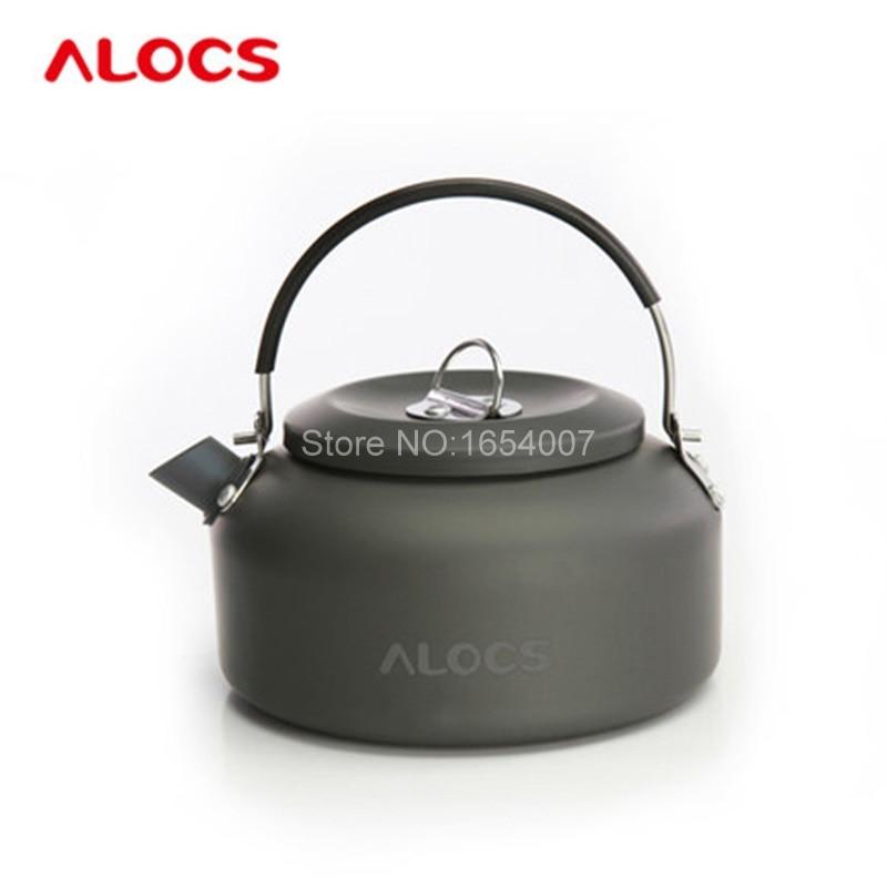 2 L Ultraleicht Aluminium Outdoor Kochen Wasserkocher mit Klappgriff für Camping-Wasserkessel Camping-Küchenbedarf
