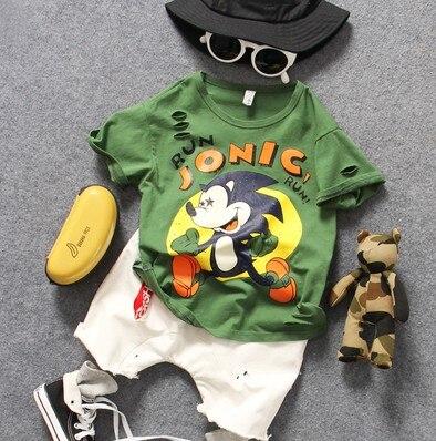 95-135cm Height Only T Shirt 1pc New 2019 Summer Boys O-neck Cartoon Short Sleeve T Shirt Boys Fashion Style Summer T Shirt