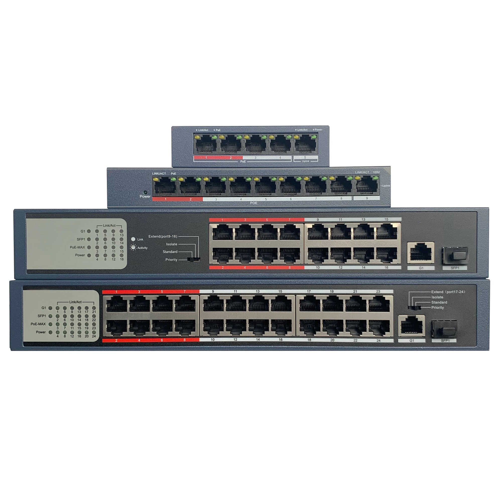 Image result for 24 Port POE Switch DS-3E0326P-E/M hikvision